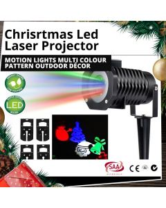 LED Laser Projector Motion Christmas Lights Multi Colour Pattern Outdoor Décor