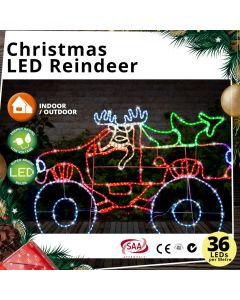 Christmas LED Reindeer 4WD 150cm Flashing Effects + Steady