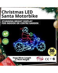 Christmas LED Santa Motorbike Super Bright