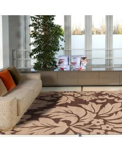 Viva Ultra Modern Floral Brown Contemporary Rugs 330x240