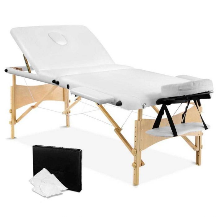 Outstanding Portable Wooden 3 Fold Massage Table Chair Bed White 70 Cm Creativecarmelina Interior Chair Design Creativecarmelinacom