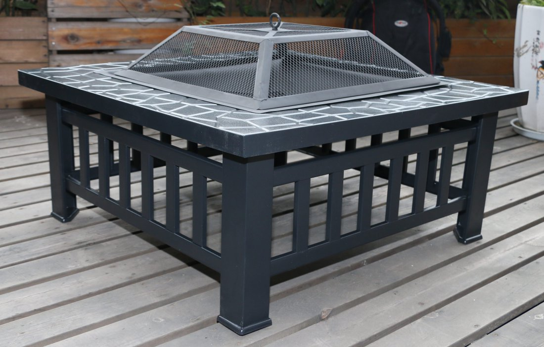 18 Inch 3-in-1 Premium Fire Pit - BBQ - Outdoor Heater
