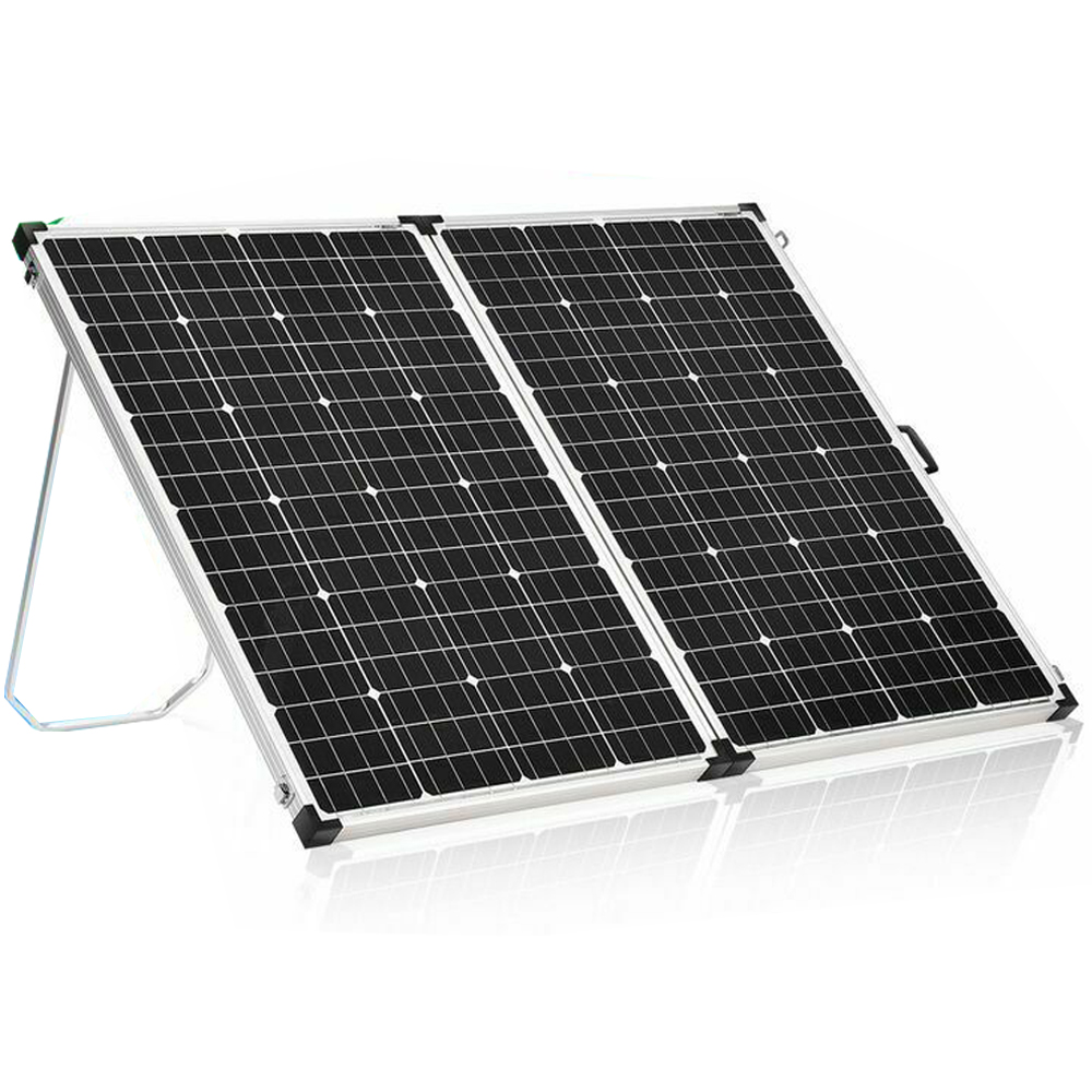 12V 340W Mono Folding Solar Panel Kit Caravan Power Charging Battery