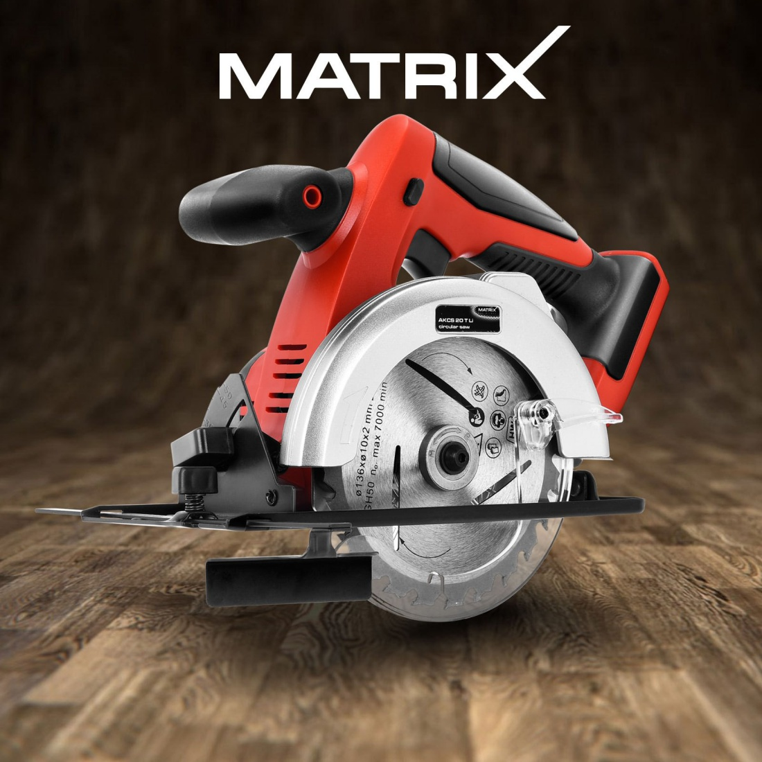Matrix 20V Cordless Circular Saw 136mm Lithium Electric Power Tool Skin Only