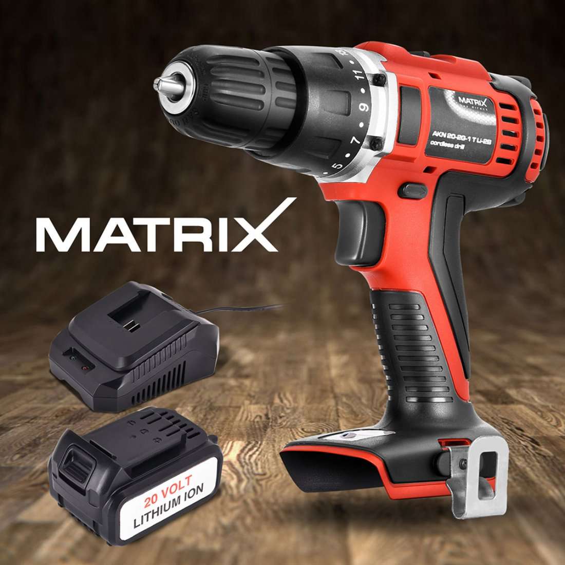 NEW Matrix 20V Cordless Drill 4.0ah Li-Ion Battery Charger Power Tool