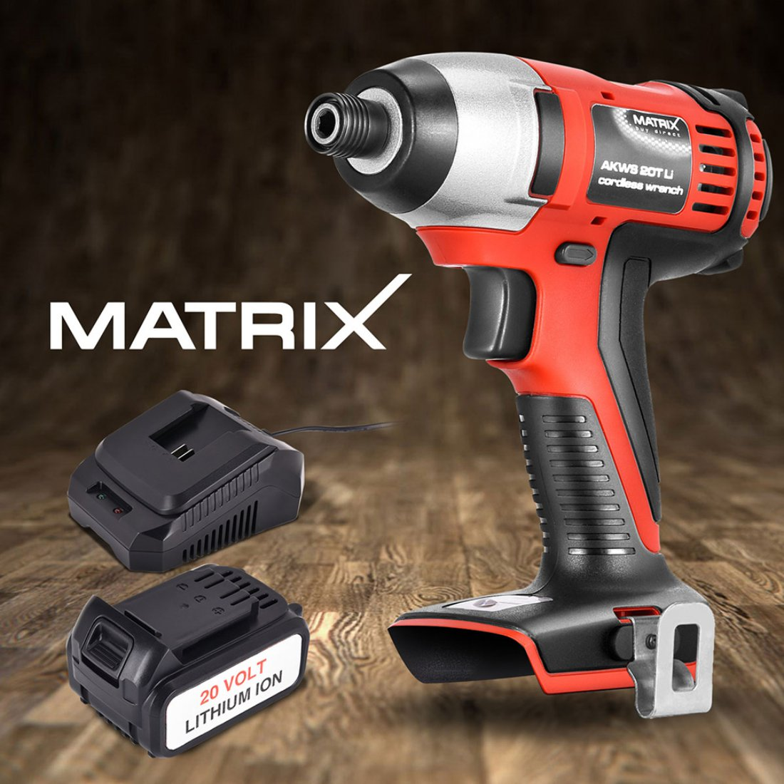 NEW Matrix 20V Cordless Impact Driver Power Tool 4.0ah Li-Ion Battery Charger