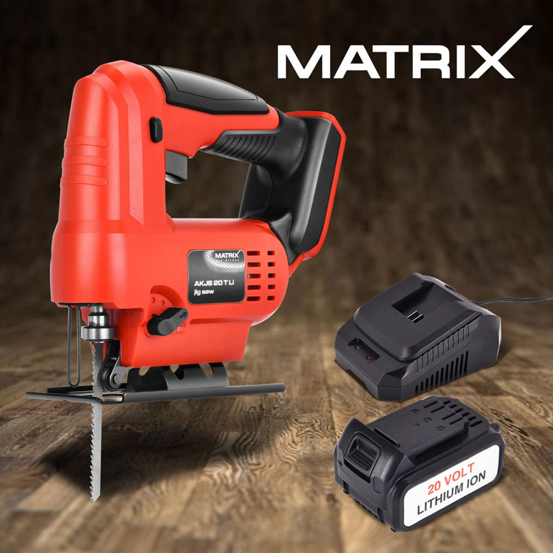 NEW Matrix Cordless Jigsaw Blade Power Cutting Tool 4.0ah Li-Ion Battery Charger