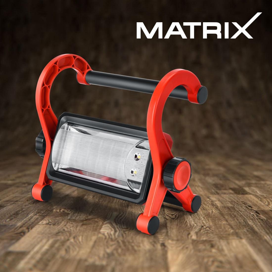 Matrix Cordless LED Work Light Rechargable Lamp Flashlight 20V Li-Ion Skin Only