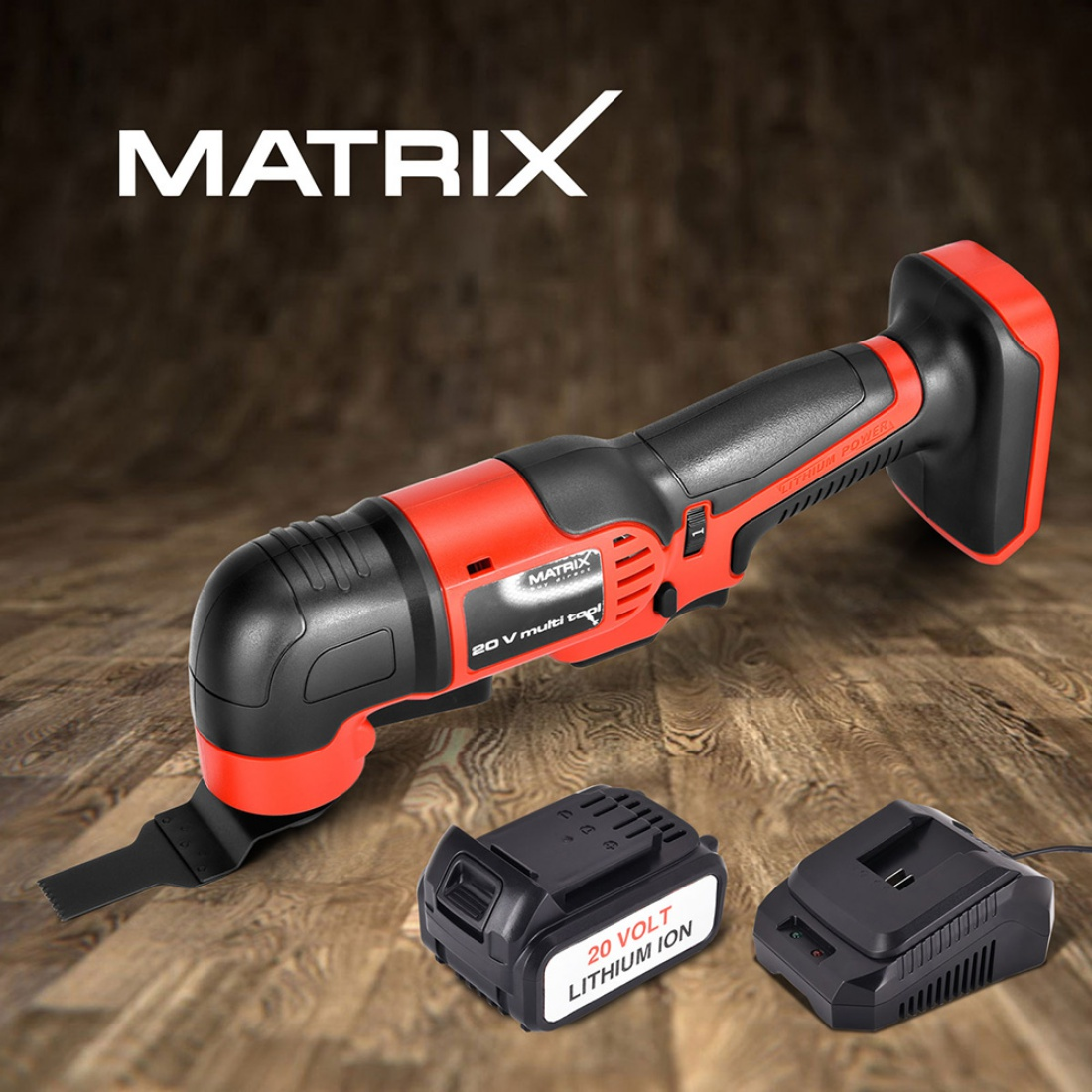 NEW Matrix 20v Cordless Multitool 4.0ah Lithium Battery Charger Power Tool