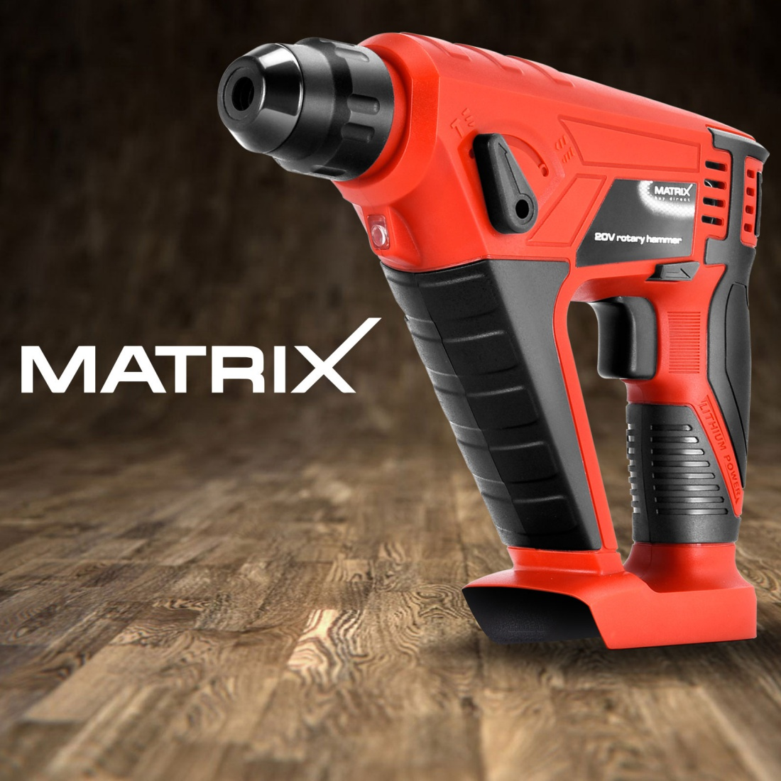 Matrix Cordless Rotary Hammer Drill 20V Li-Ion Electric Power Tool Skin Only