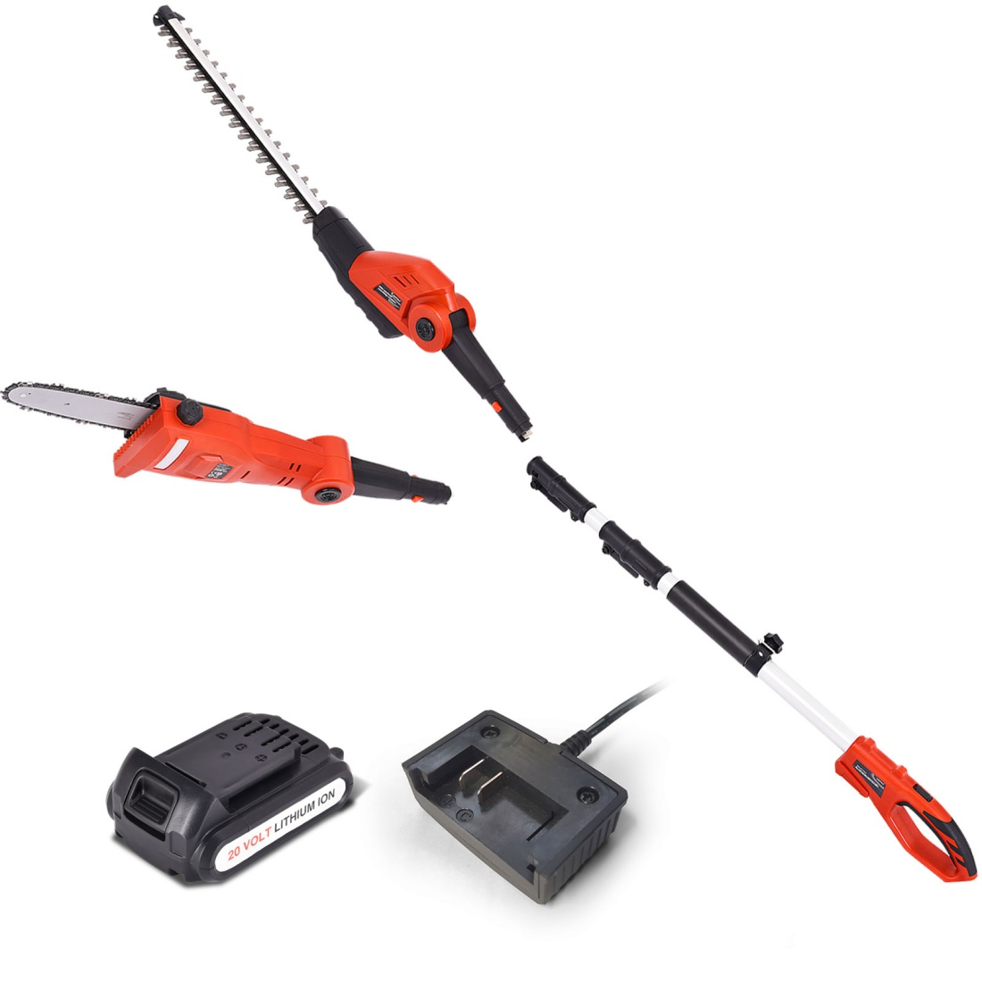 Matrix 20V Pole for Graden Pole Chainsaw Hedg Trimmer Electric Garden Tool 2in1