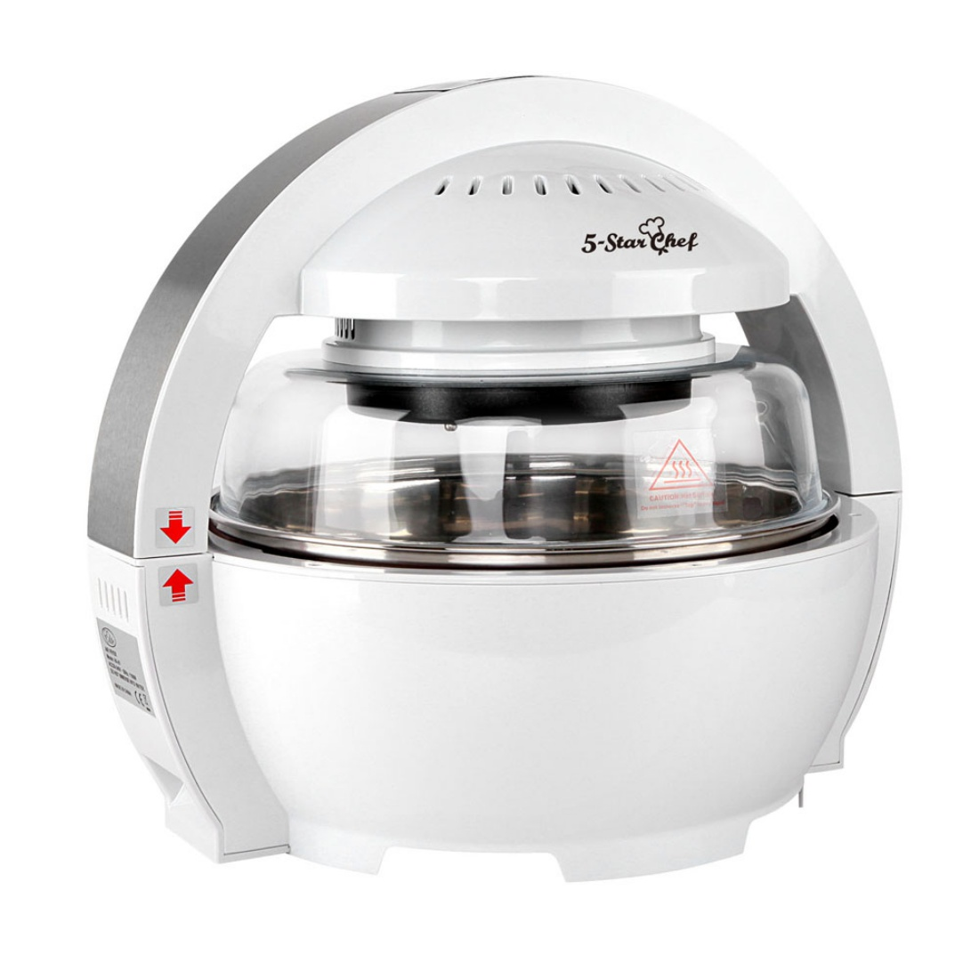 5 Star Chef 13L Air Fryer - White 1300W Multifunctional Low Fat Healthy Cooker