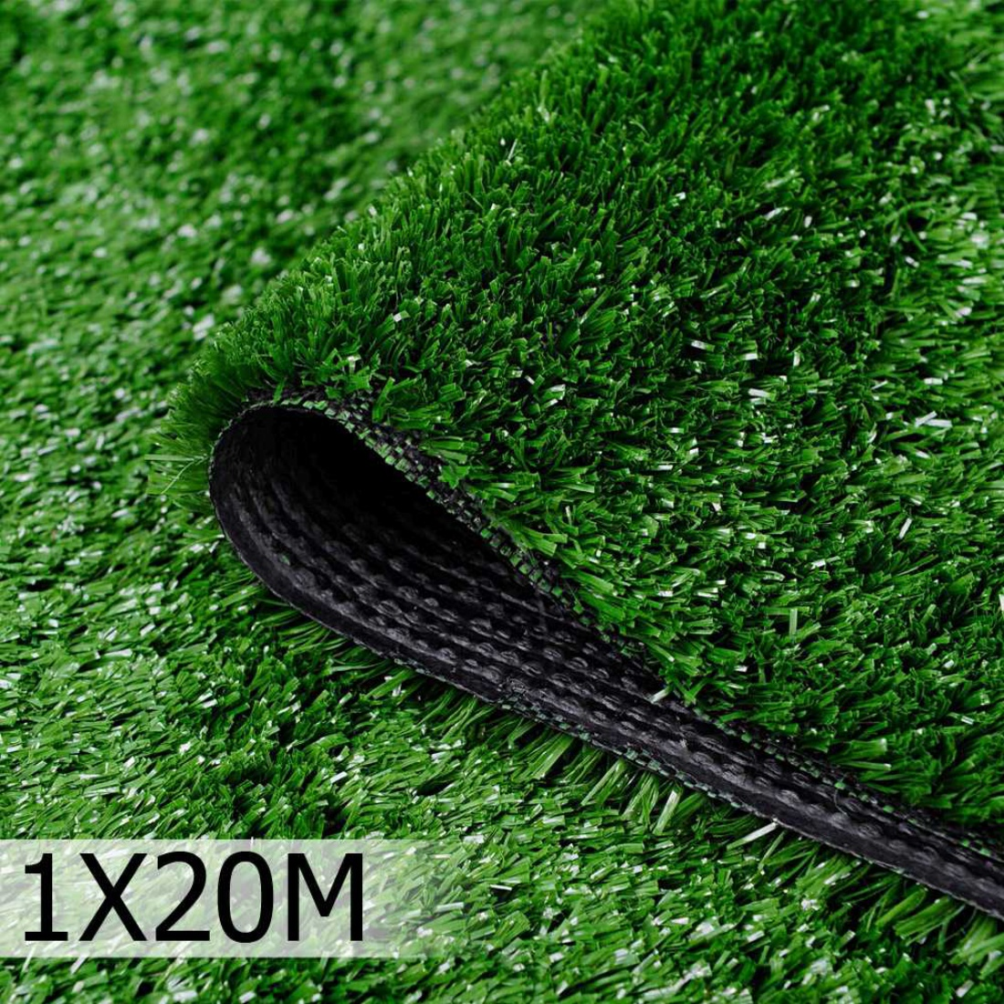 Artificial Grass 20 SQM Olive Green Polypropylene Lawn Flooring 1X20M Green