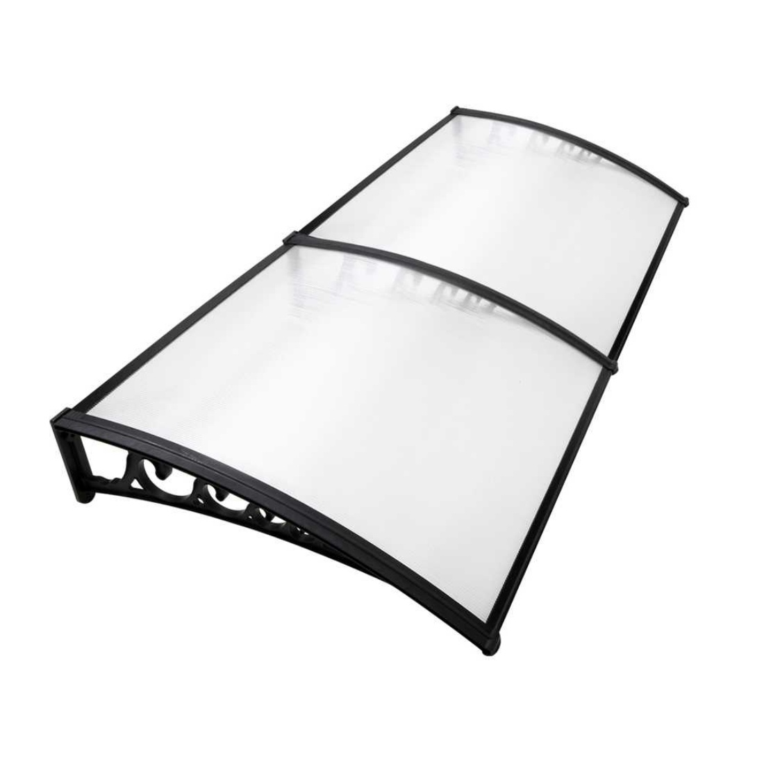 Window Awning DIY 1m x 2m Transparent For UV Sun and Rain Outdoor Protection Cover