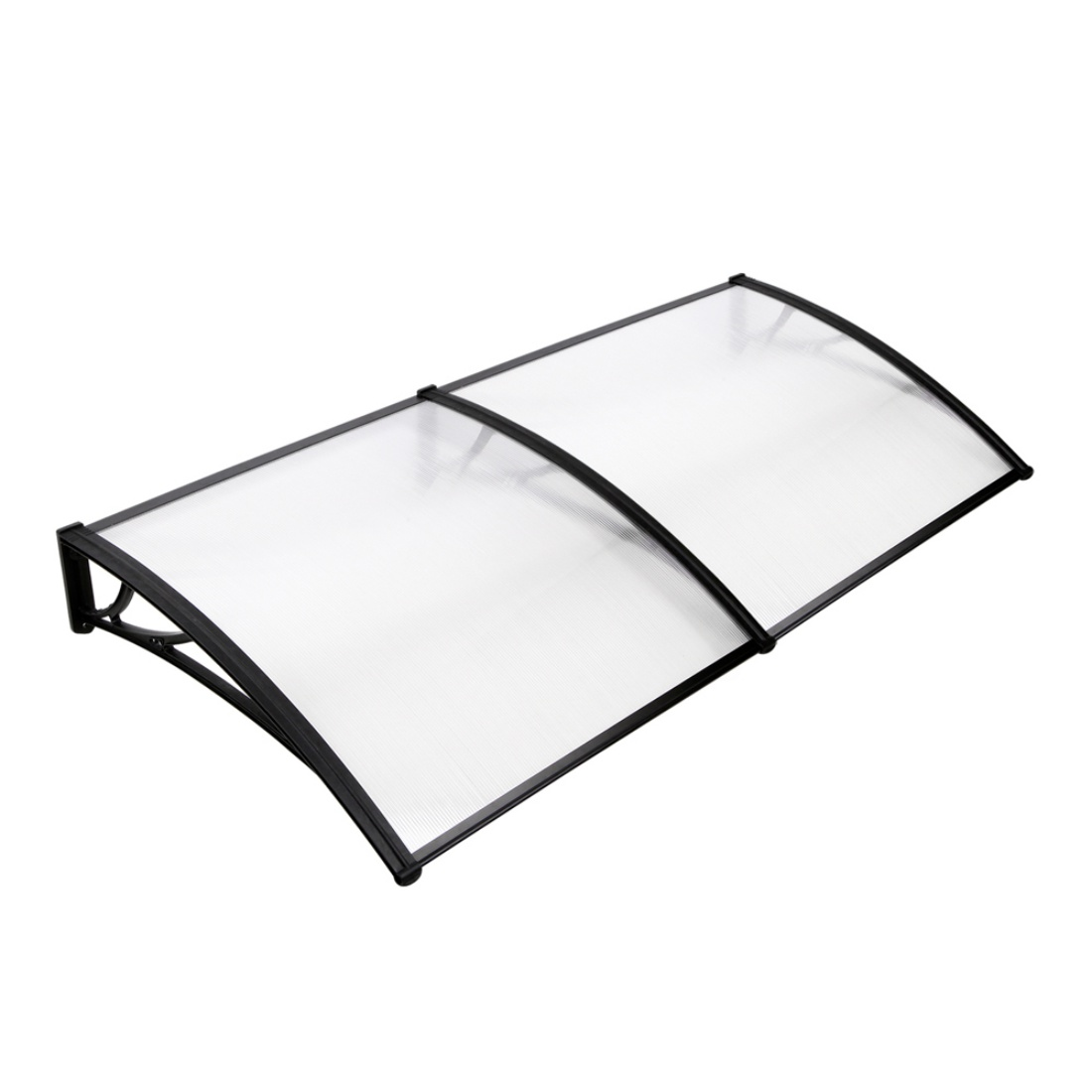 Window Door Awning DIY UV Sun Rain Outdoor Protection Cover 1m x 2m Transparent