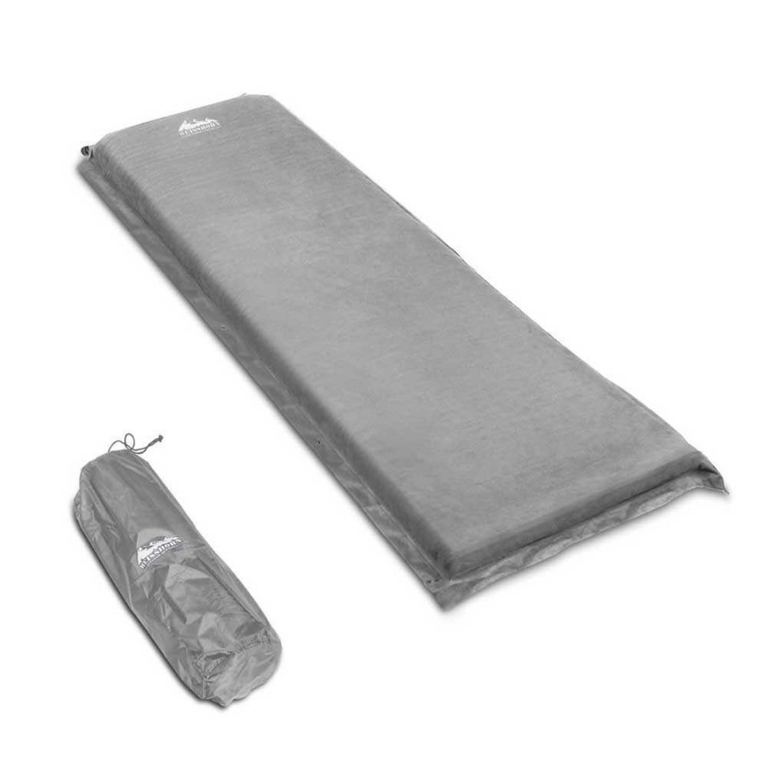 10cm Thick Self Inflating Camp Mat Single