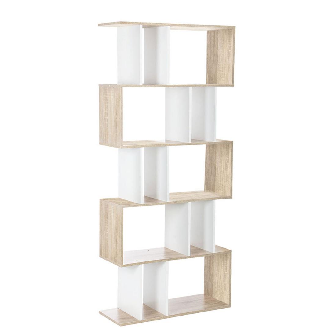 5 Tier Display/Book/Storage Shelf Unit White Brown