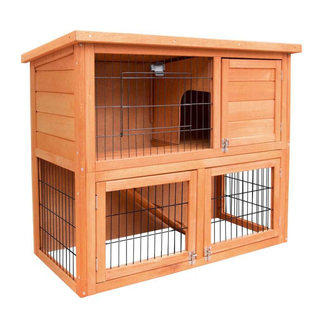 Double Storey Rabbit Hutch Cage Enclosure