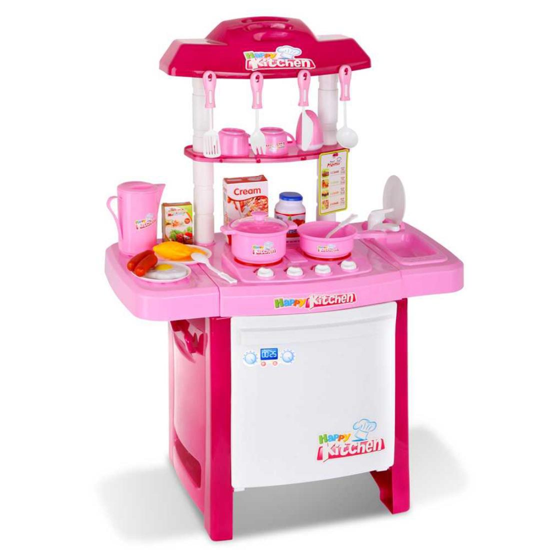 Kids Play Set Little Chef Kitchen 25 Piece - Pink