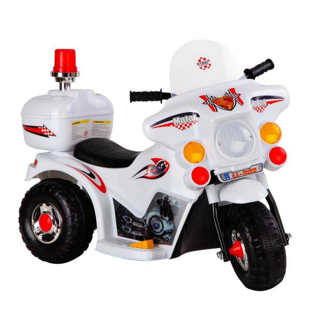 Kids Ride on Motorbike White Kids Motorcycle