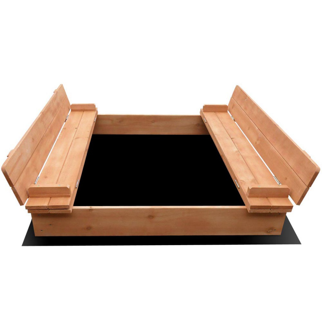 Children Square Sand Pit with Cover 95cm
