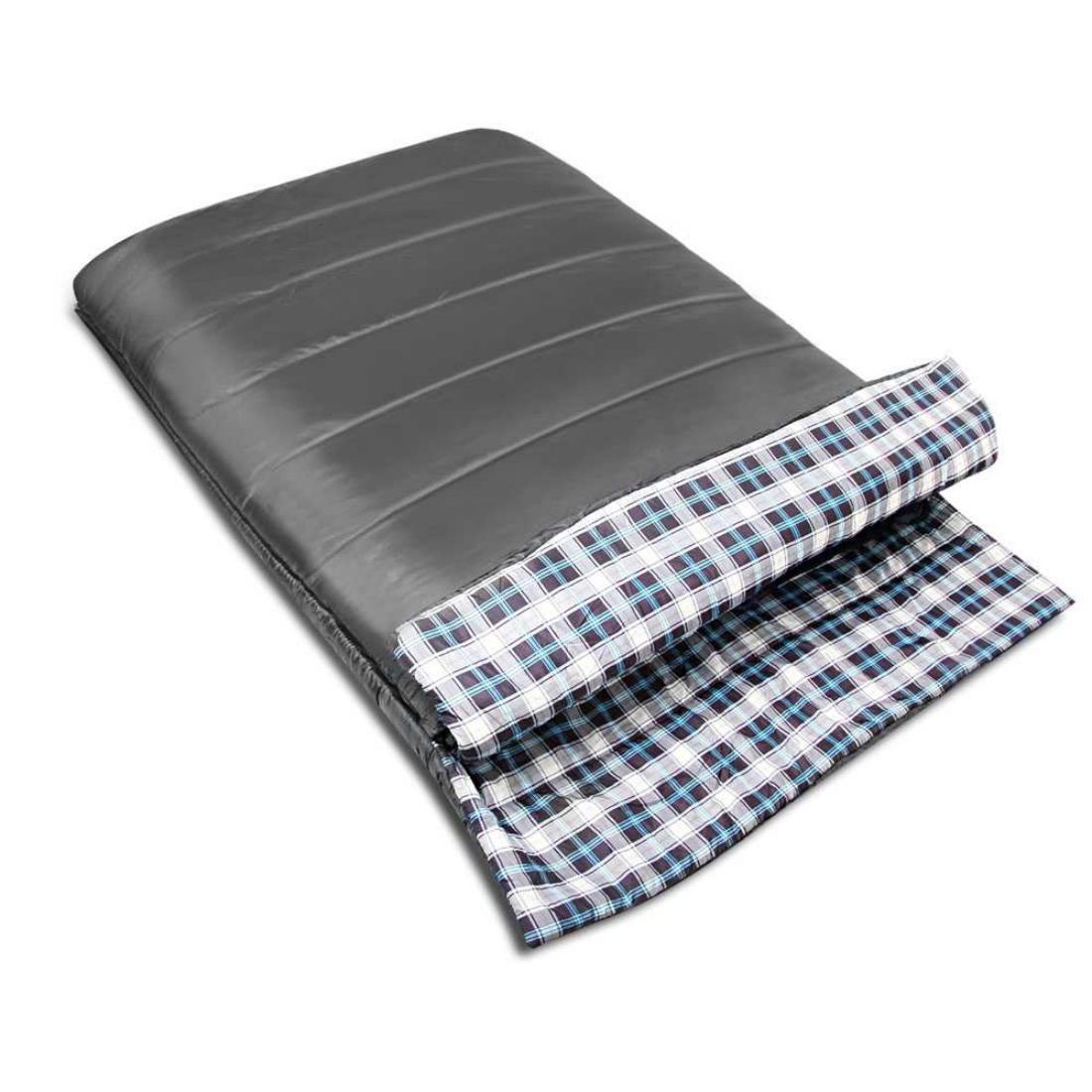 Camping Envelope Sleeping Bag Double Grey