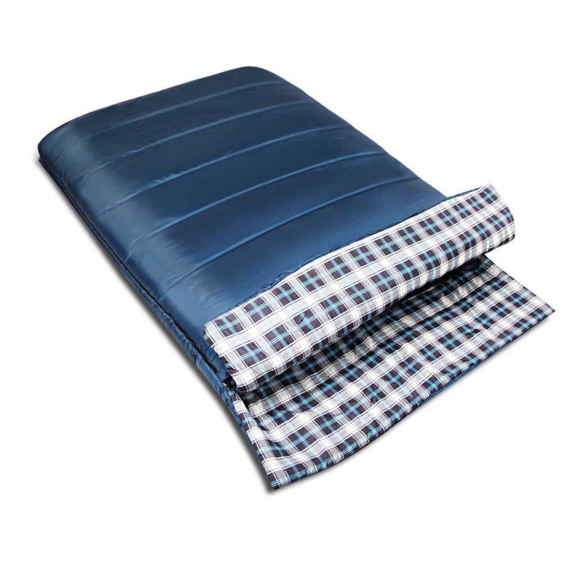 Camping Envelope Sleeping Bag Double Navy