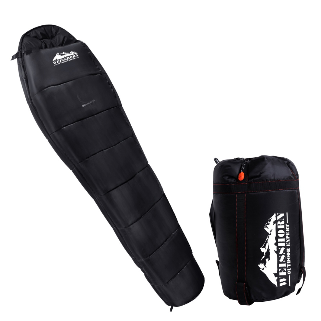 Camping Thermal Sleeping Bag Black