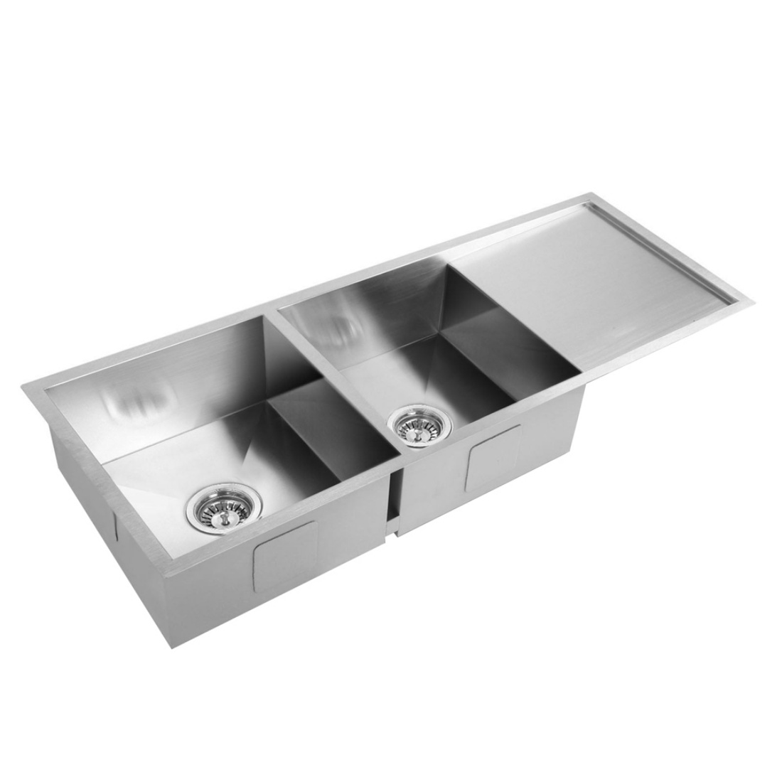 Stainless Steel Kitchen/Laundry Sink w/ Strainer Waste 1114 x 450mm