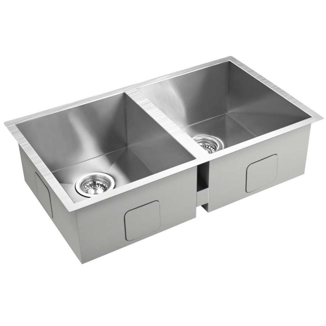 Stainless Steel Kitchen/Laundry Sink w/ Strainer Waste 770 x 450 mm