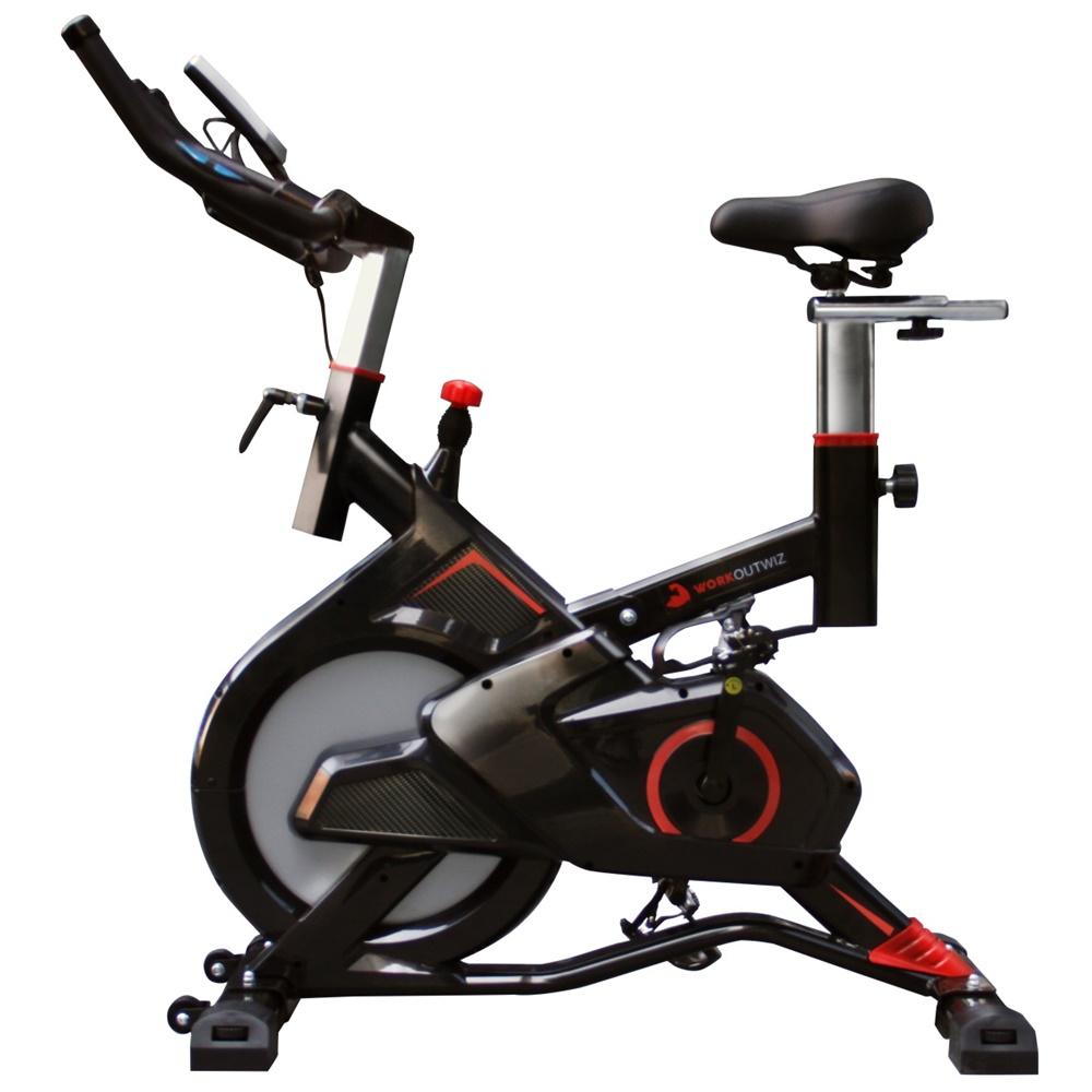 Workoutwiz Spin Bike Flywheel Commercial Spin Bike 10kg Gym Home Indoor Workout