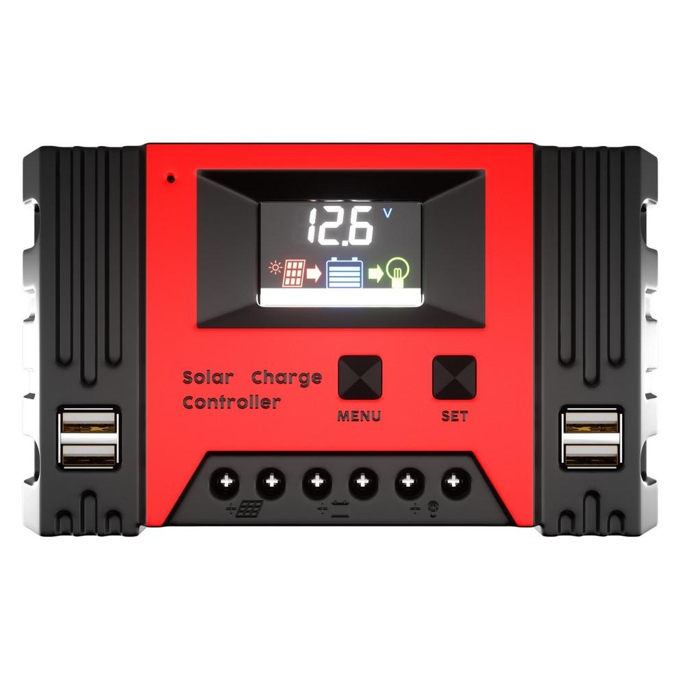 12/24V 40A Solar Panel Regulator Charge Controller 4USB Caravan Outdoor