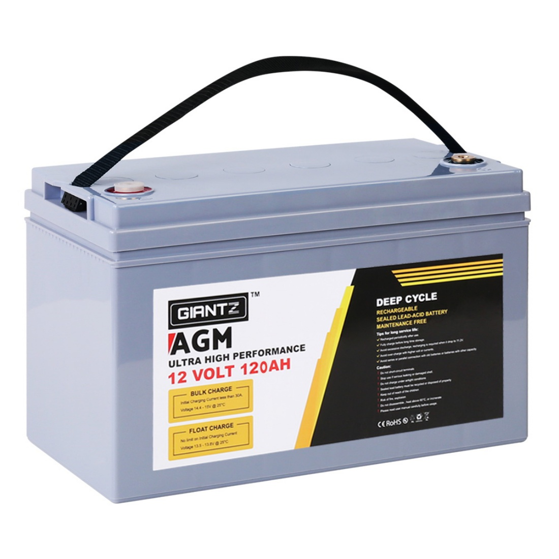 12V 120AH Amp Hour Battery AGM Deep Cycle 12 Volt