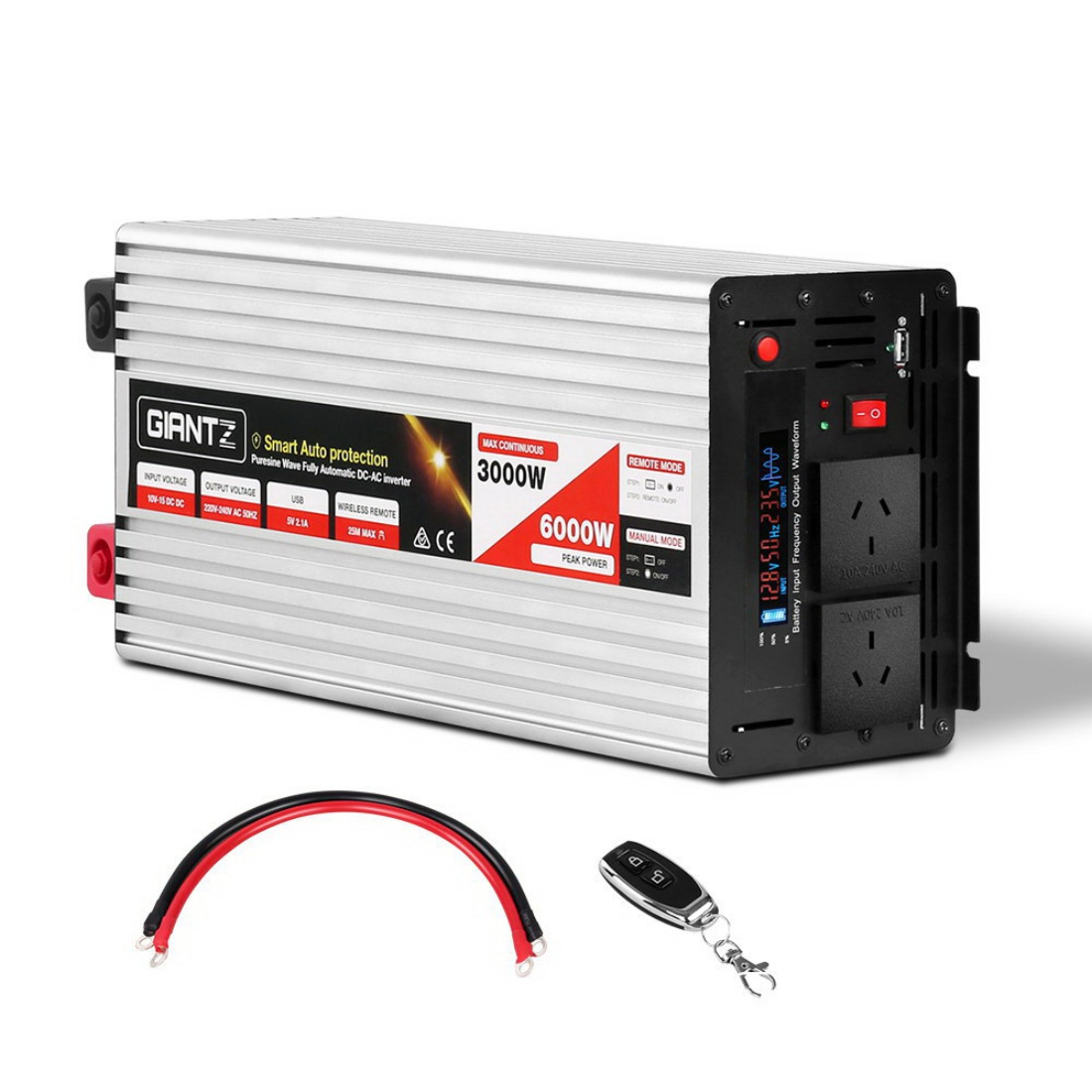 3000W Pure Sine Wave 12V to 240V Inverter