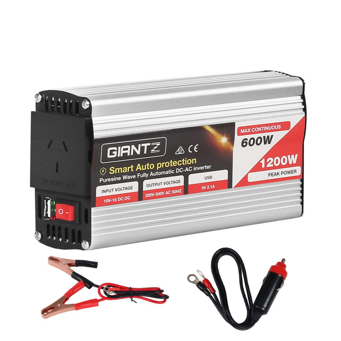 600W Pure Sine Wave 12V to 240V Inverter