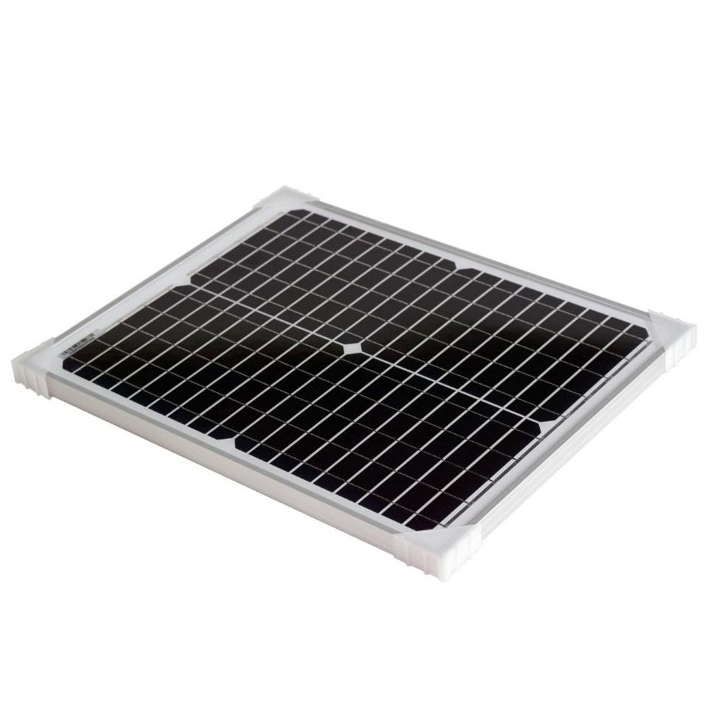 MaxRay 20W 12V Solar Panel Mini Kit Car or Caravan Charger