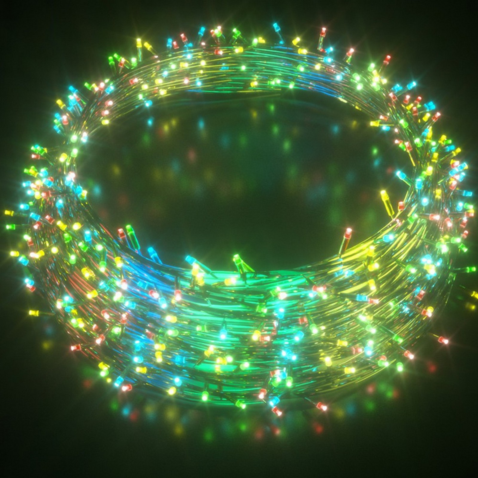 Christmas Motif LED Flashing Icicle Lights Multi Colour Fairy Party Stockholm