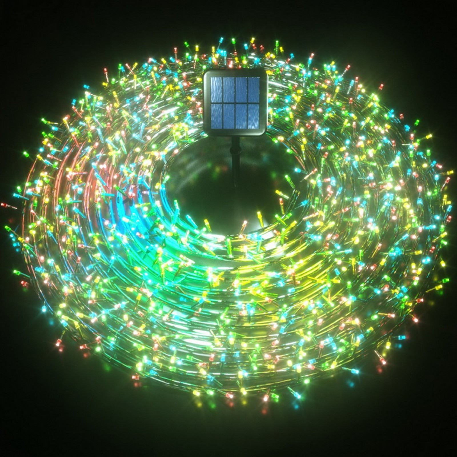 Christmas Motif Solar Fairy Lights Multi Colour Stockholm Outdoor Fairy Party