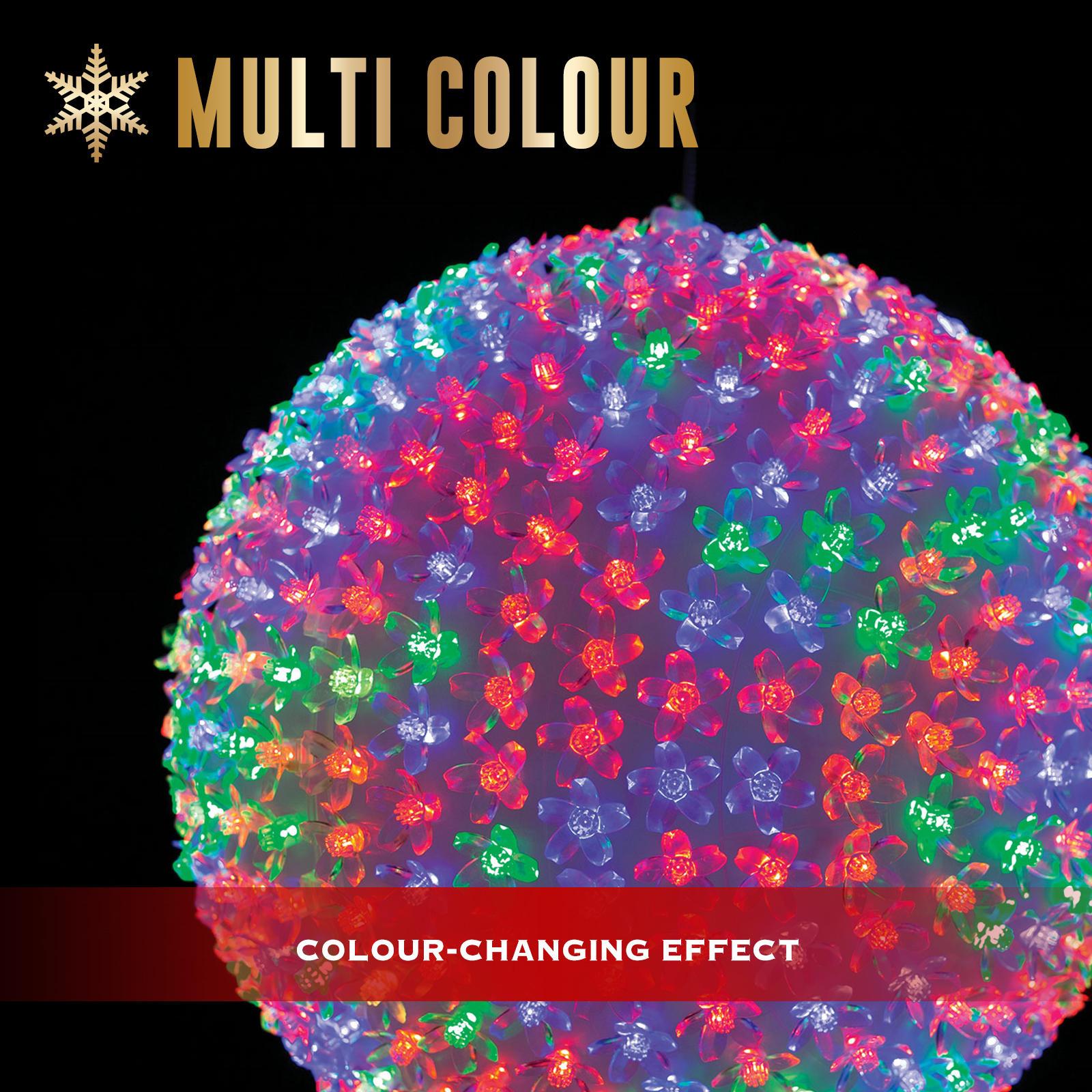 Christmas Lights 500 LEDs Petal Ball Multi-Colour Xmas Party Outdoor Garden 32CM