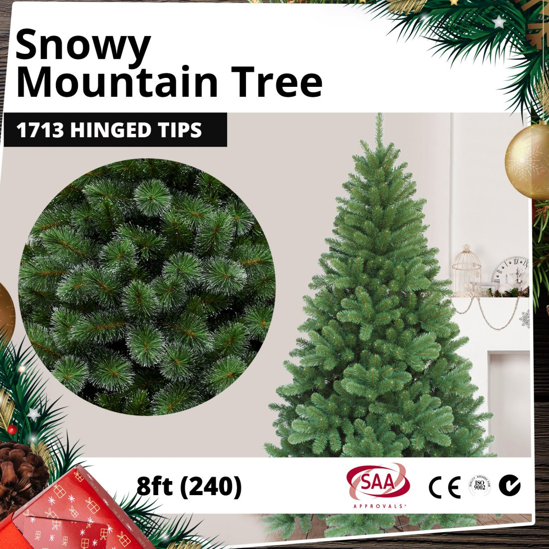 Huge Deluxe Christmas Tree Tuscan Spruce 240cm 8ft