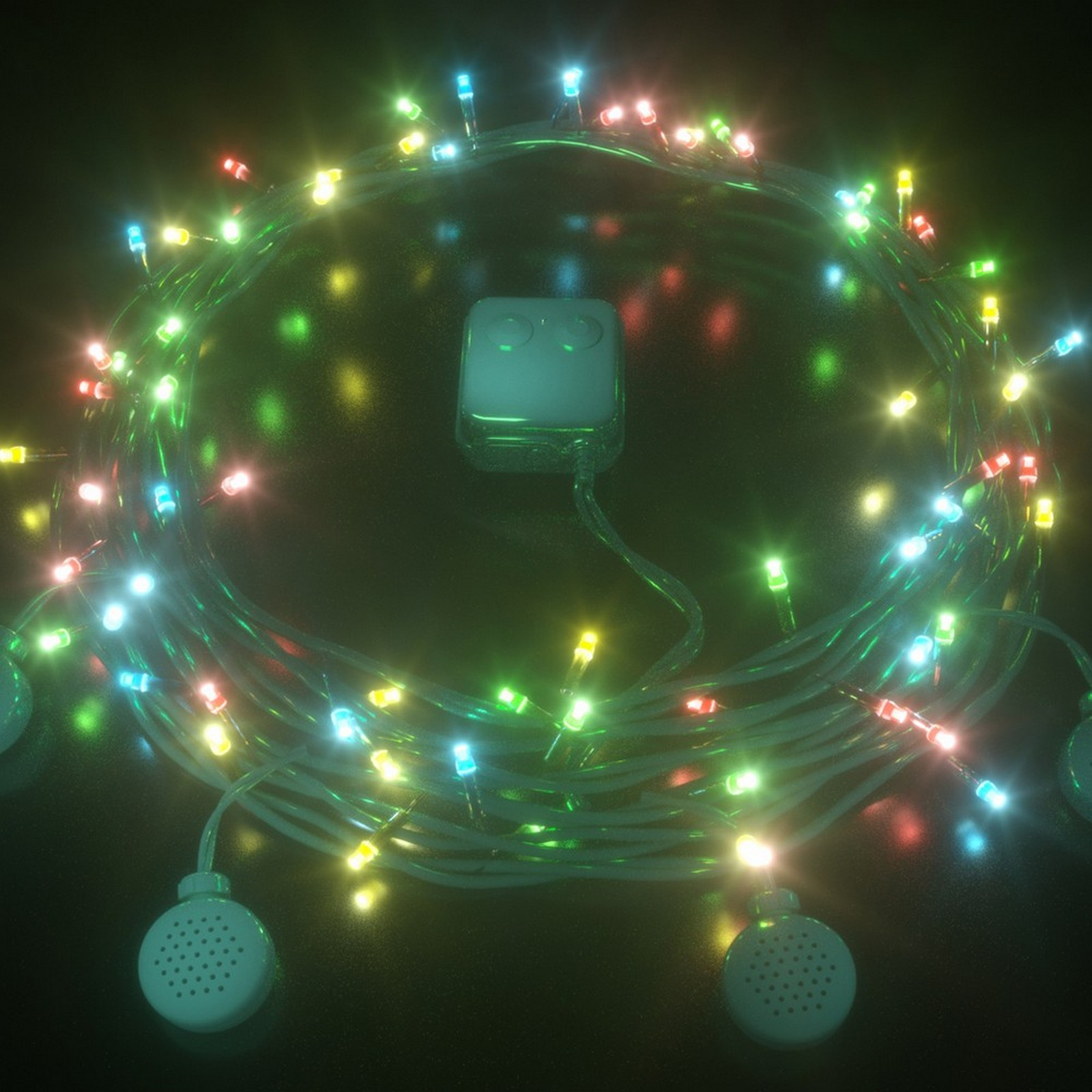 Led Fairy Lights With Bluetooth Speakers - Multi Colour