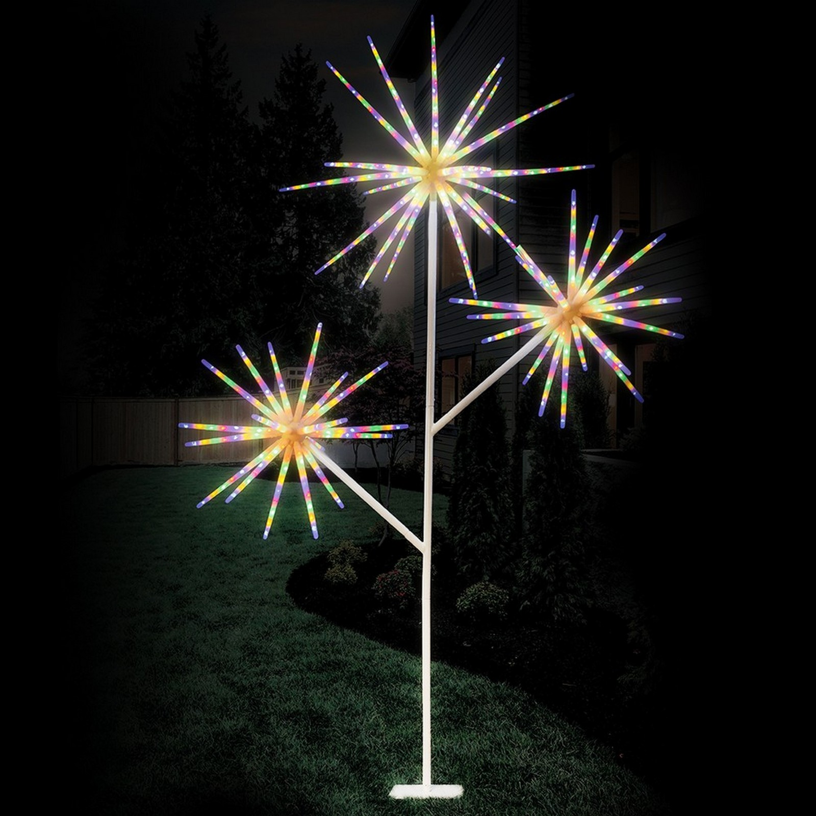 Led Starburst Tree - 3Pcs, 2.6M, Multi Colour