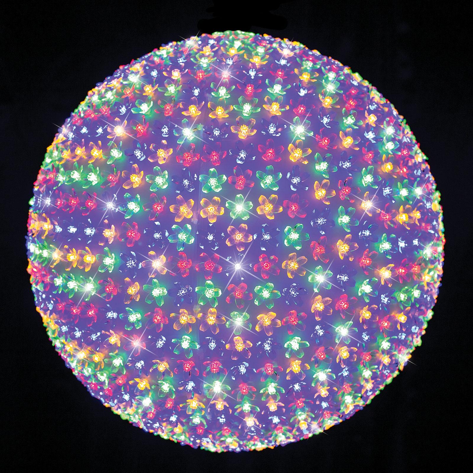 LED Enormous Petal Ball Motif Lights Xmas Party Garden Lamp MULTICOLOUR 50cm