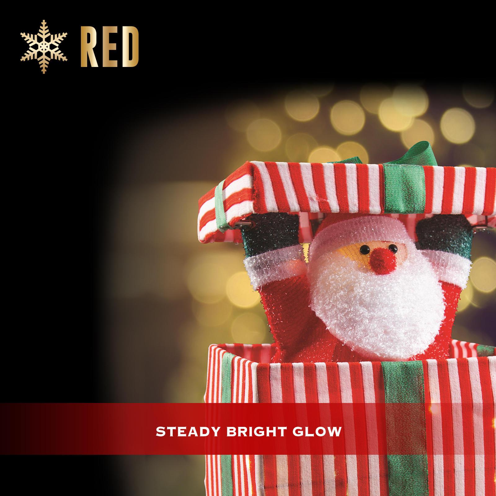 Christmas Lights 18 LEDs Pop UP Santa Claus Animated Indoor Xmas Decoration