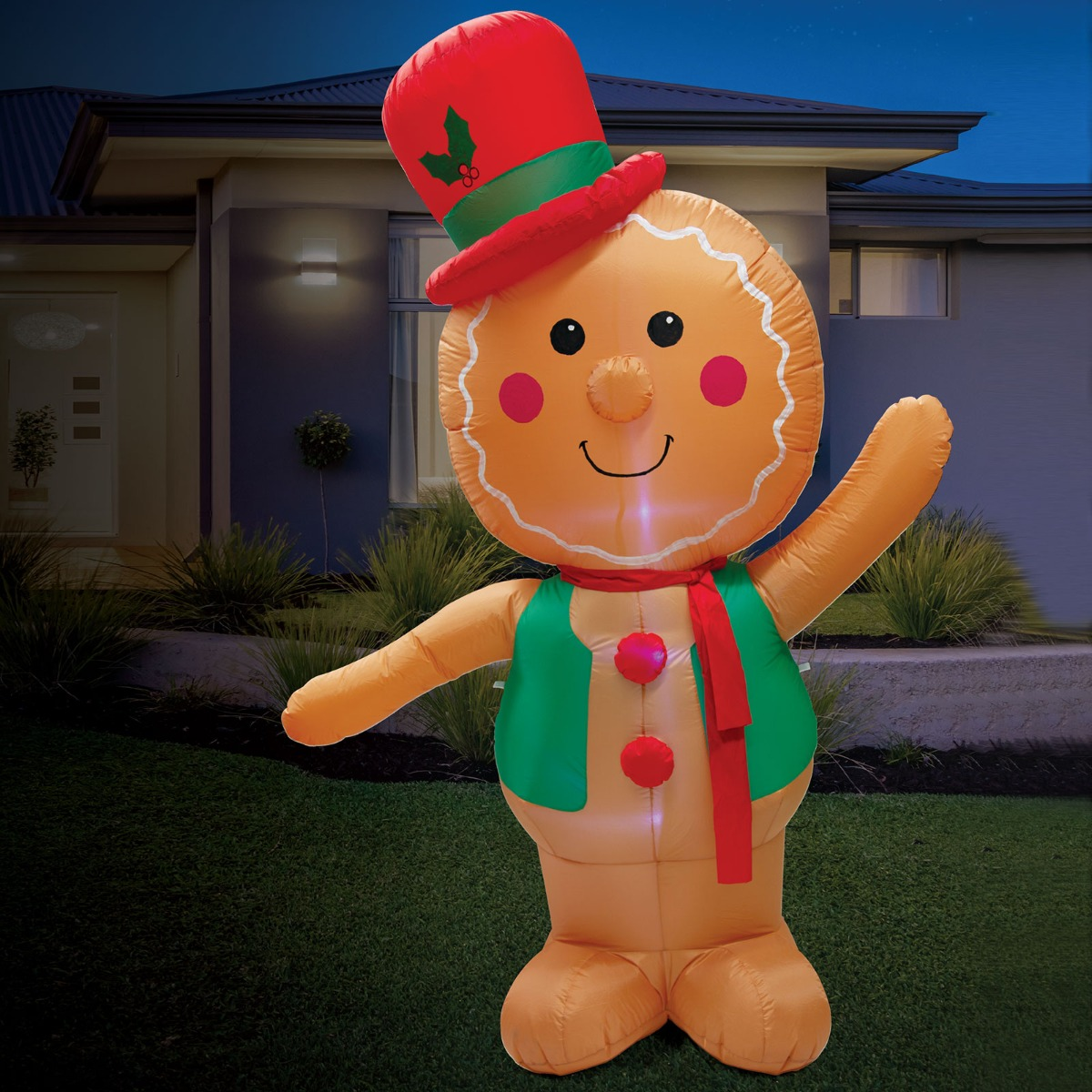 Christmas Lights Christmas Decorations GINGERBREAD MAN Inflatable Outdoor 2.4m